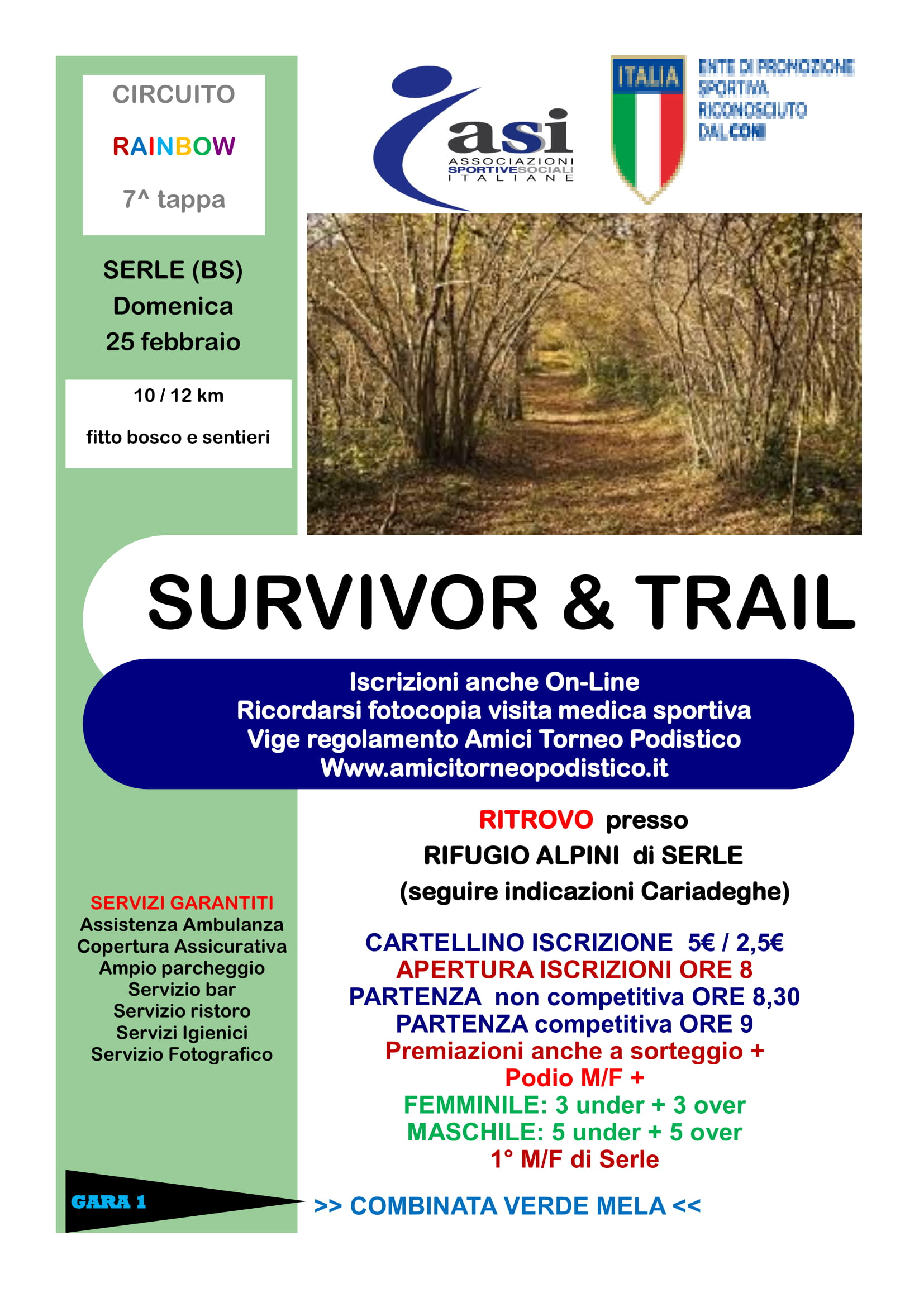 volantino gara survivor and trail 2018 amici torneo podistico