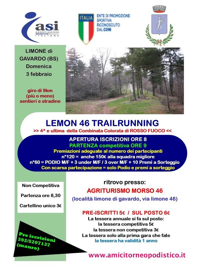 volantino gara 4 2019 - Lemon 46 trailrunning