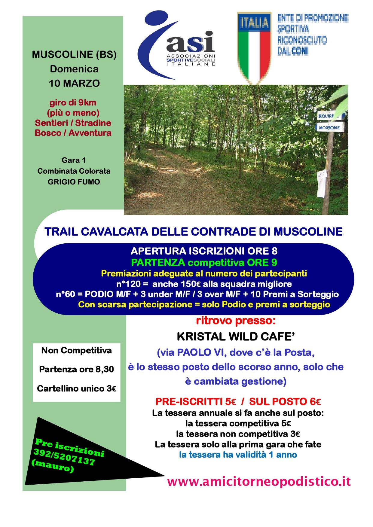Trail cavalcata muscoline volantino 2019
