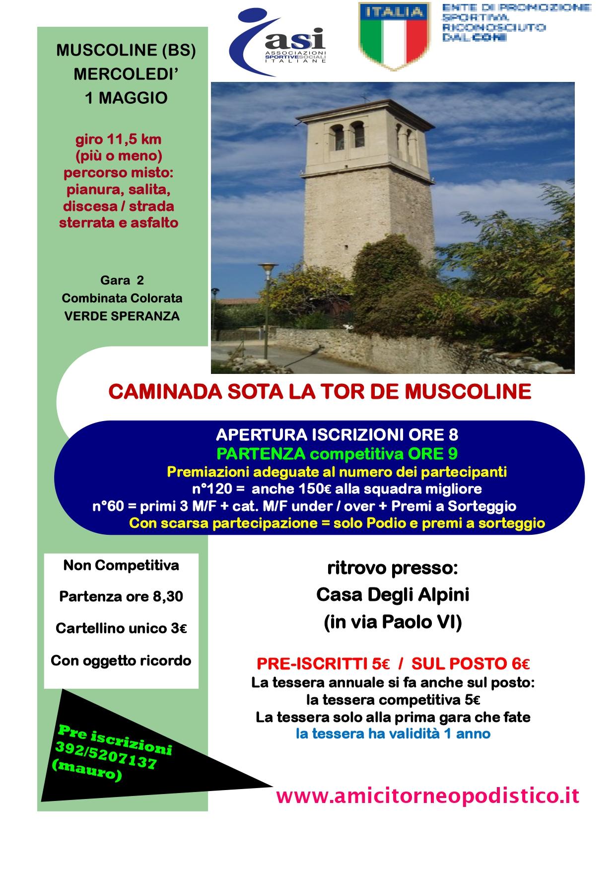 Gara 18 - CAMINADA SOTA LA TOR DE MUSCOLINE volantino