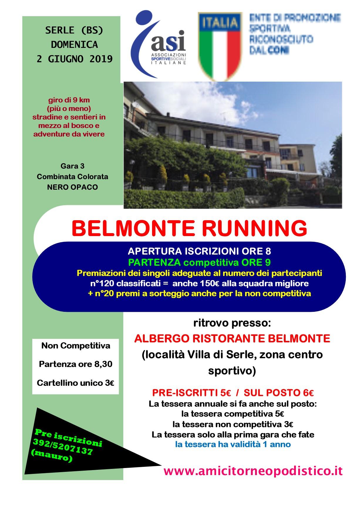 gara 23 belmonte running volantino