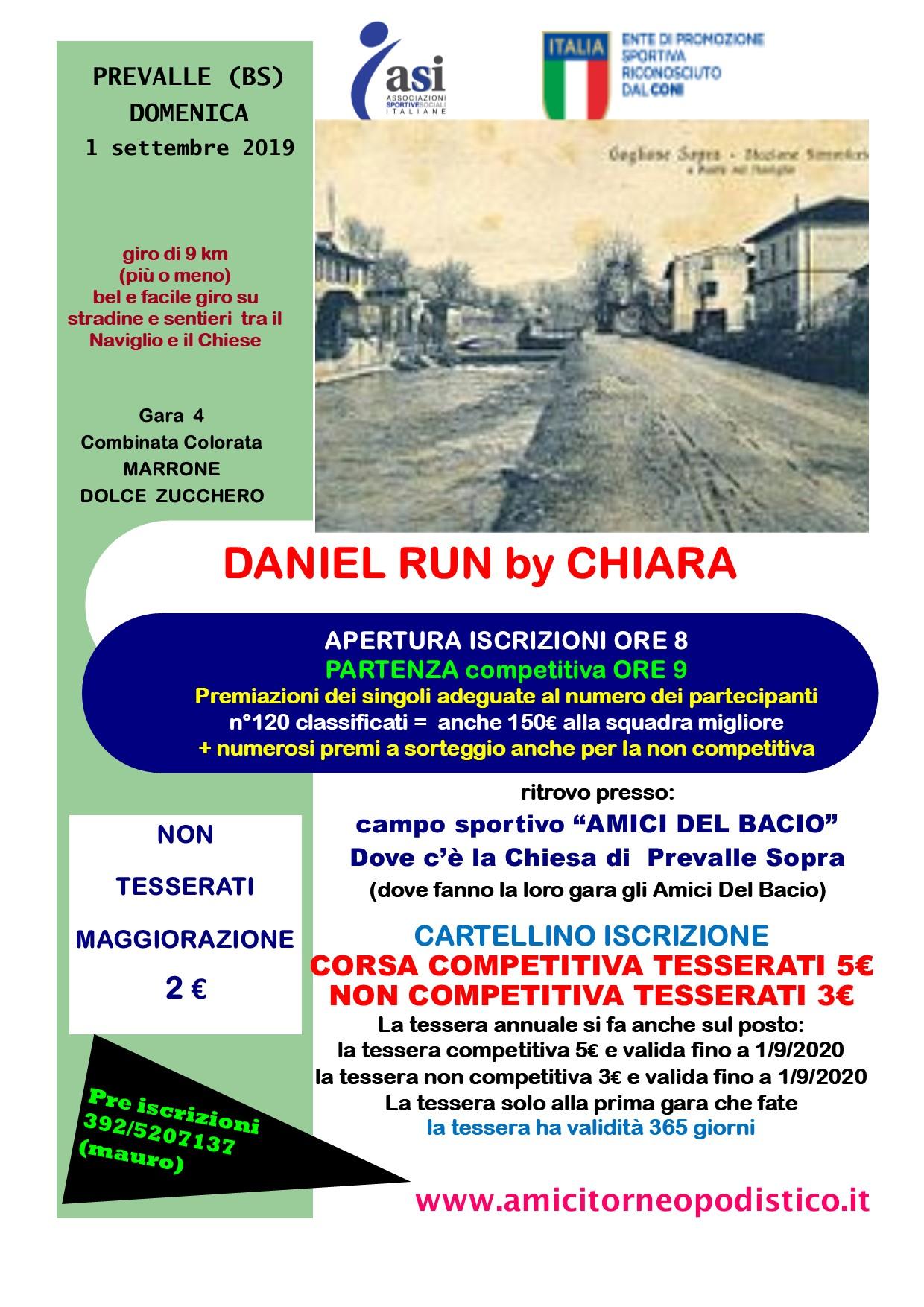volantino gara 36 DANIEL BY CHIARA