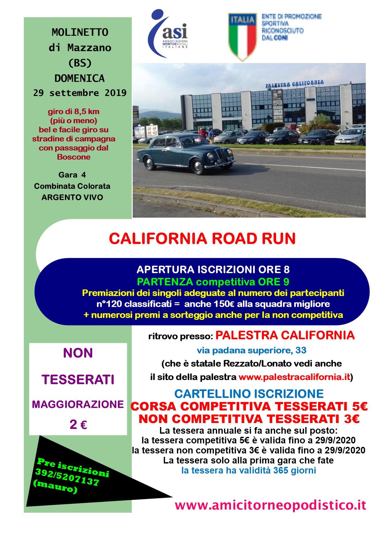 volantino gara 40 PALESTRA CALIFORNIA