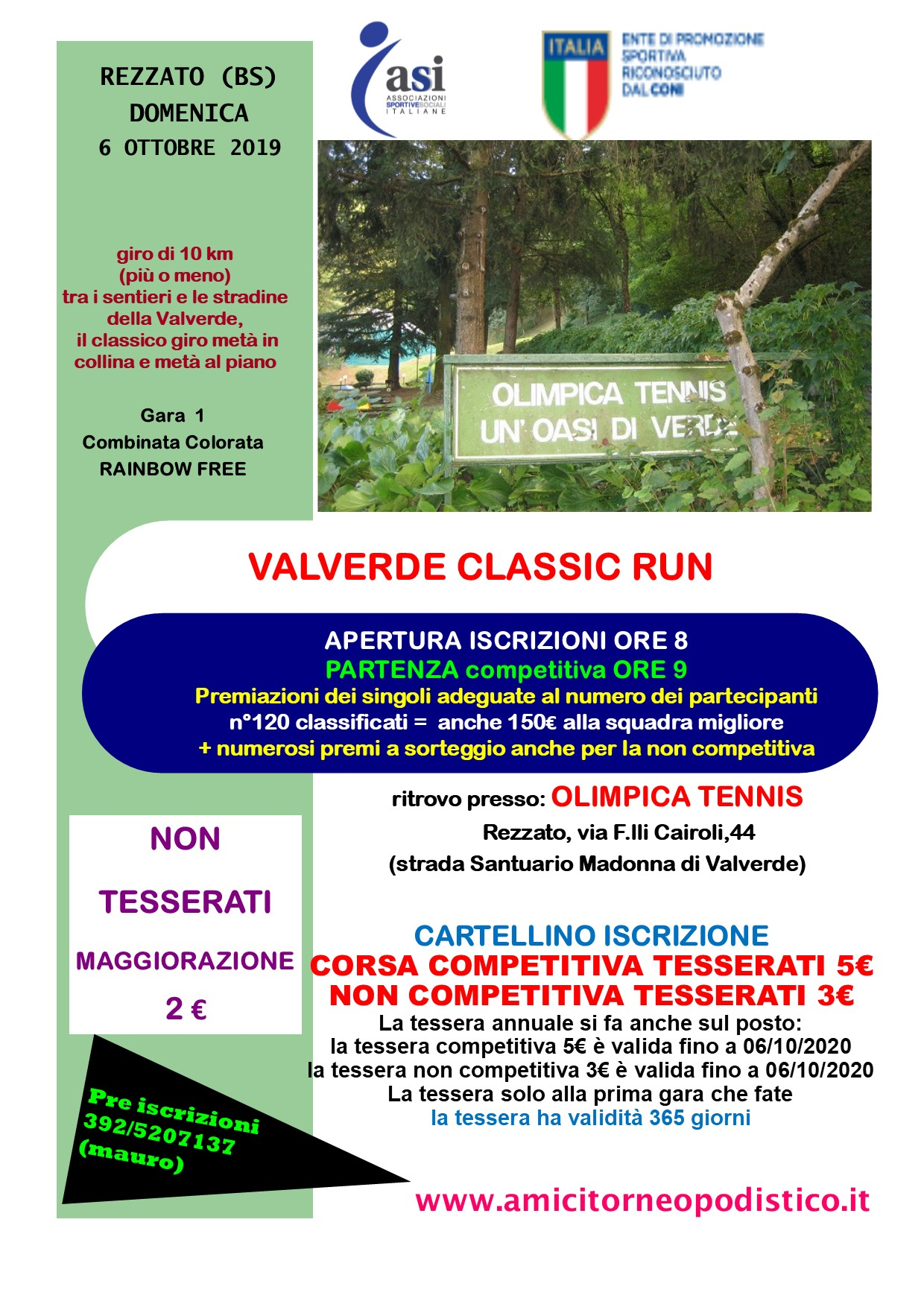 volantino Valverde Classic Run 2019