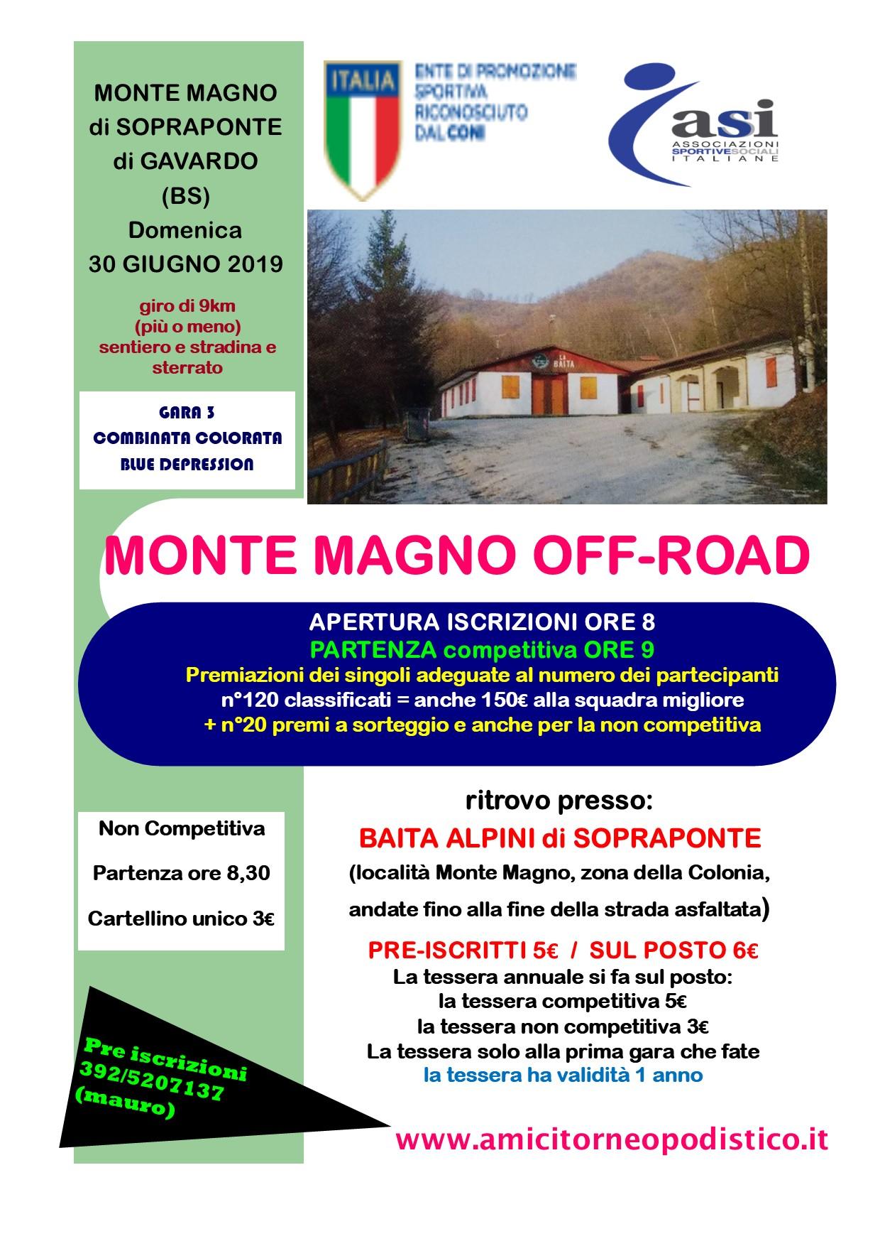 volantino monte magno off road 2019