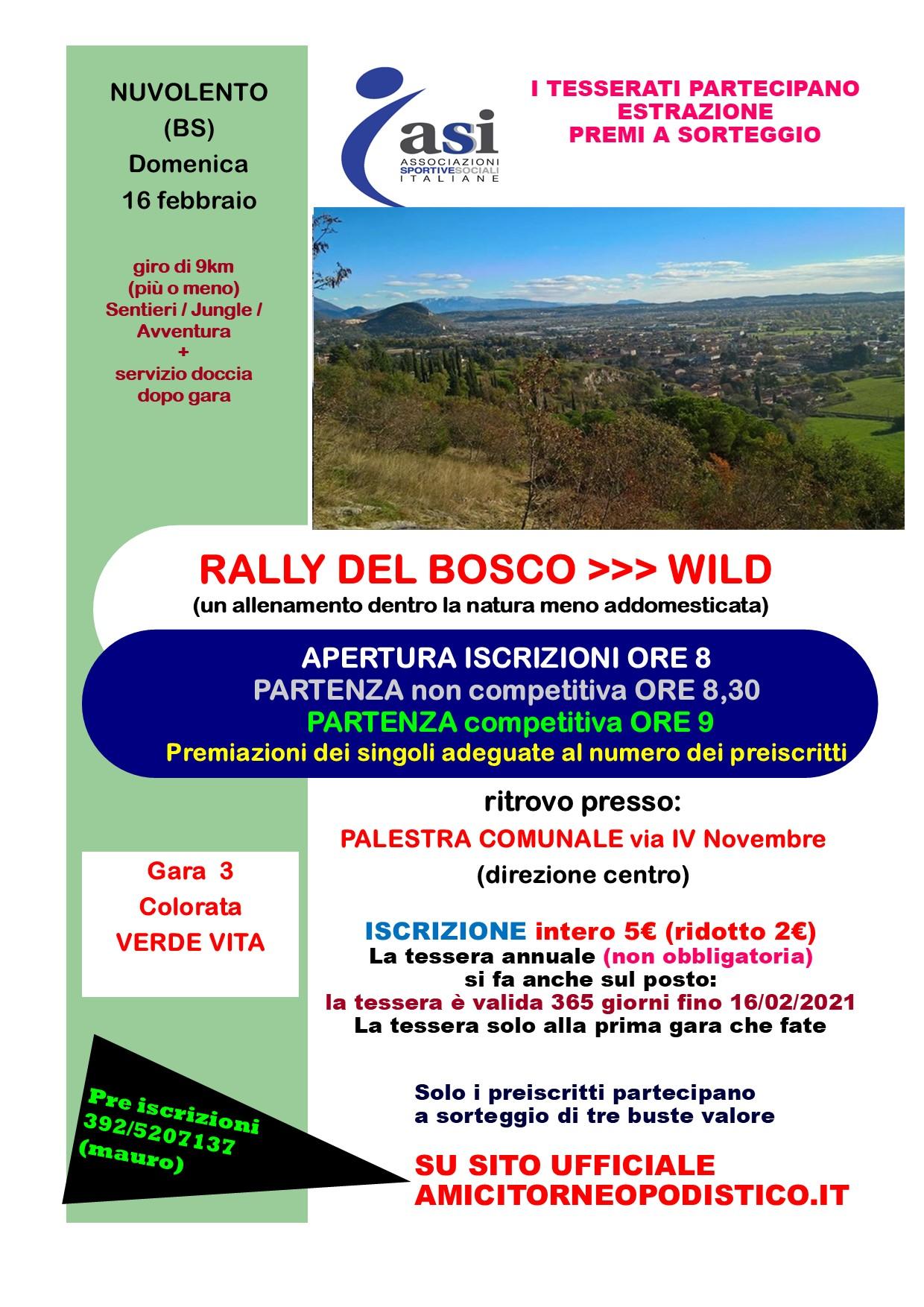 volantino 2020 gara 3 rally del bosco