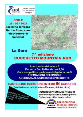 Cucchetto mountain run 2021